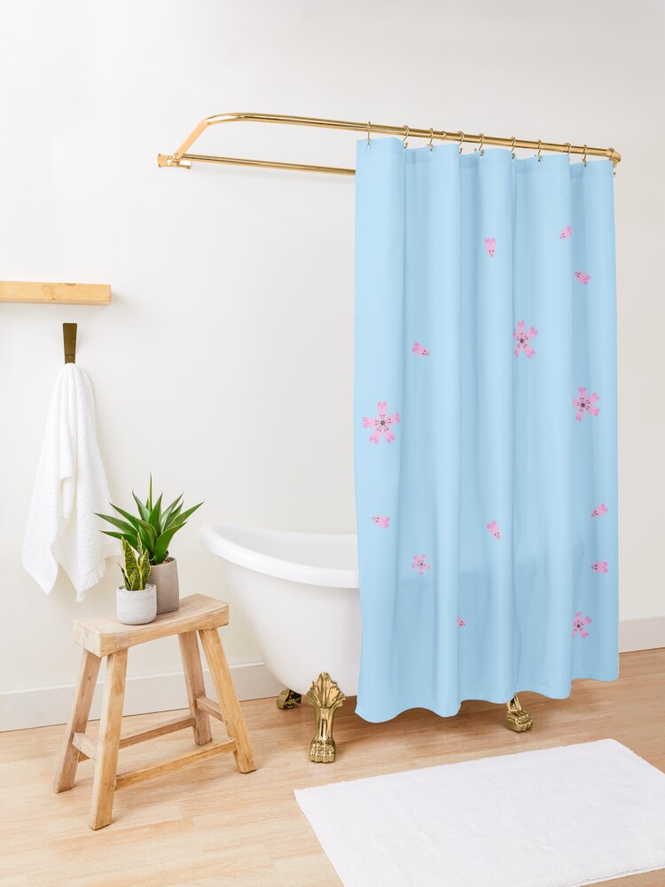 Alternate view of sakura flowers Shower Curtain
