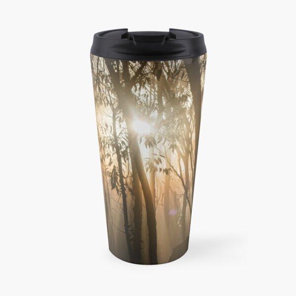 Mount Macedon Fog Through the Trees Travel Mug