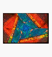 Abstract Red :: Yellow :: Blue Photographic Print