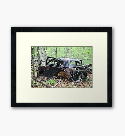 January Motor Car Framed Print