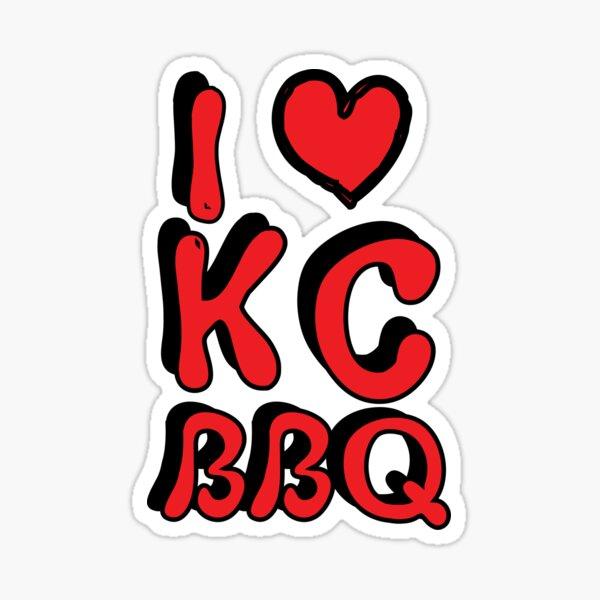 I Love KC BBQ Sticker