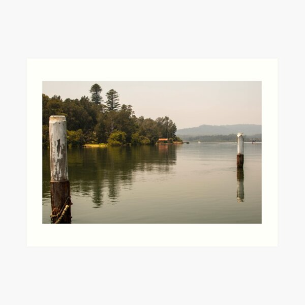 Calm Water at Eulalia Wharf in Davistown Australia Art Print