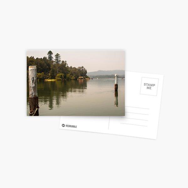 Calm Water at Eulalia Wharf in Davistown Australia Postcard