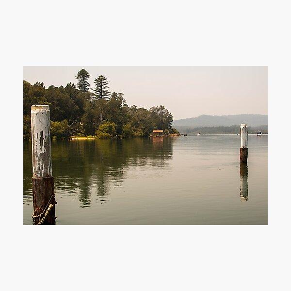 Calm Water at Eulalia Wharf in Davistown Australia Photographic Print