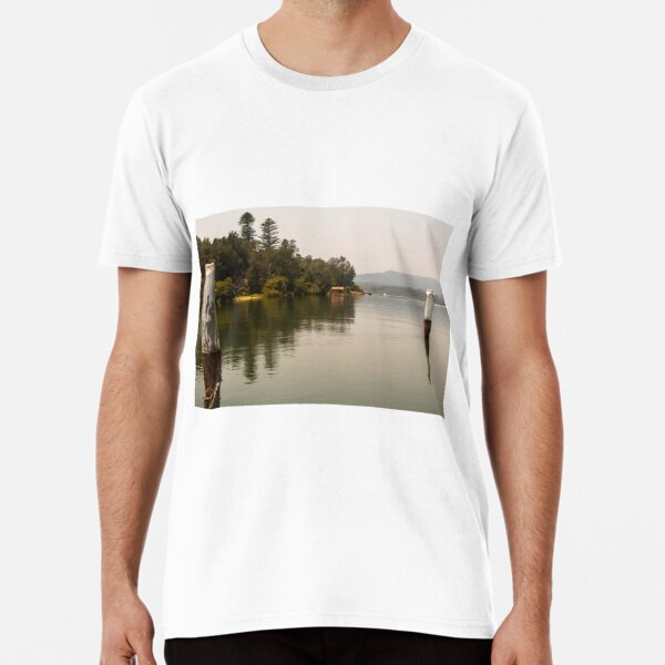 Calm Water at Eulalia Wharf in Davistown Australia Premium T-Shirt
