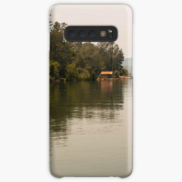Calm Water at Eulalia Wharf in Davistown Australia Samsung Galaxy Snap Case