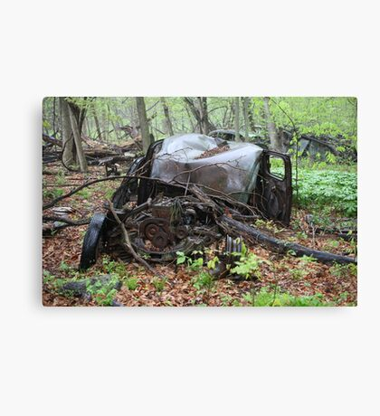 March Old Motor Car Canvas Print