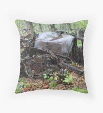 March Old Motor Car Throw Pillow
