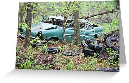 April Old Motor Car by Thomas Murphy