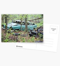 April Old Motor Car Postcards