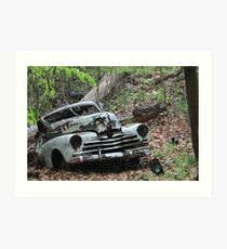 May Old Motor Car Art Print