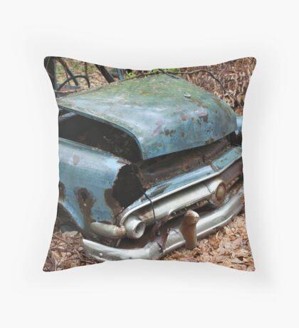June Old Motor Car Throw Pillow