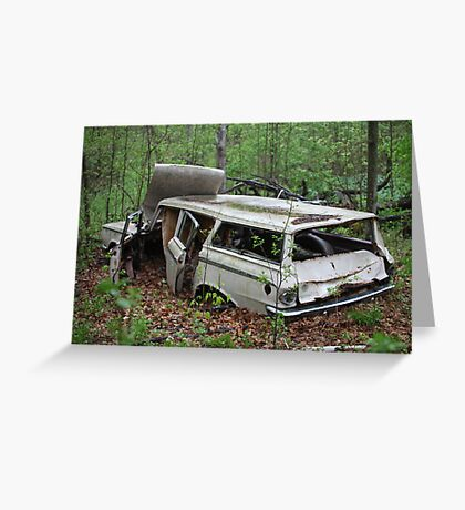 July Old Motor Car Greeting Card