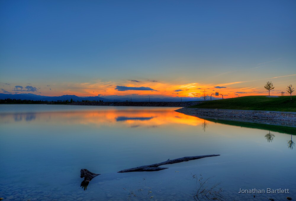Rocky Mountain Sunset Series - A Sky On Fire by Jonathan Bartlett