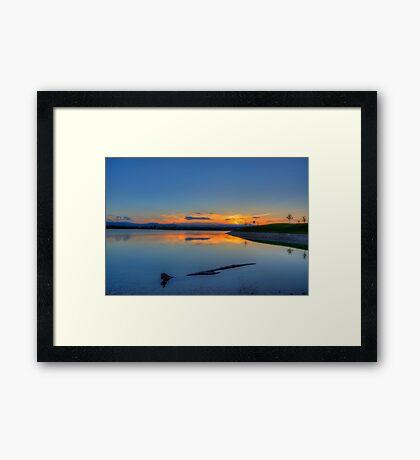 Rocky Mountain Sunset Series - A Sky On Fire Framed Print