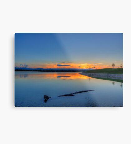 Rocky Mountain Sunset Series - A Sky On Fire Metal Print
