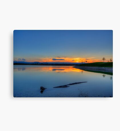 Rocky Mountain Sunset Series - A Sky On Fire Canvas Print
