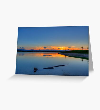 Rocky Mountain Sunset Series - A Sky On Fire Greeting Card