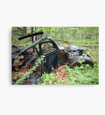 September Old Motor Car Canvas Print