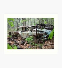 October Old Motor Car Art Print
