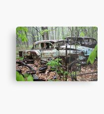 October Old Motor Car Metal Print