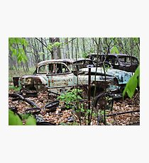 October Old Motor Car Photographic Print