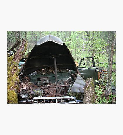 November Old Motor Car Photographic Print