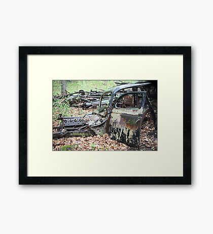 December Old Motor Car Framed Print