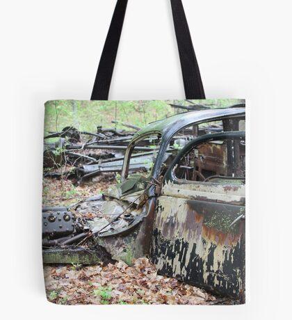 December Old Motor Car Tote Bag