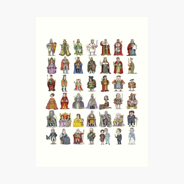 British Monarchs: The Complete Set Art Print