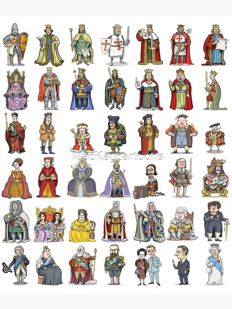British Monarchs: The Complete Set by MacKaycartoons