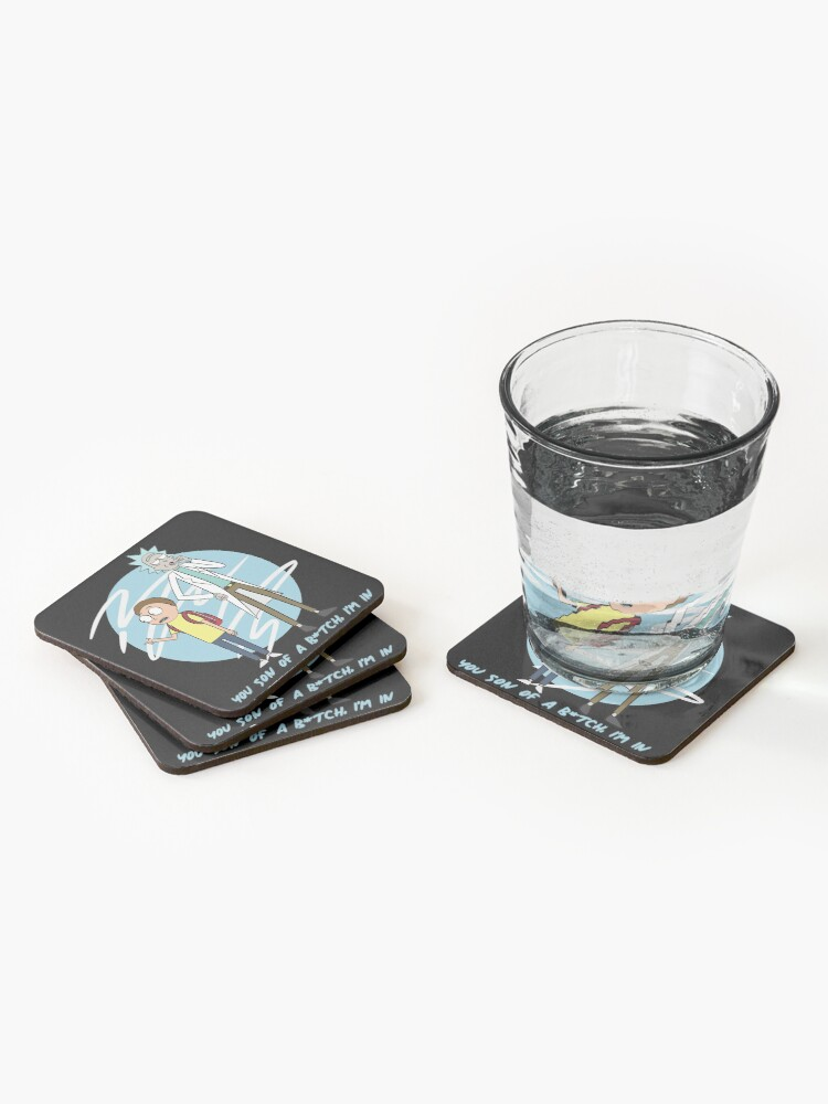 Alternate view of You Son Of A B*tch, I'm In (Rick & Morty) Coasters (Set of 4)