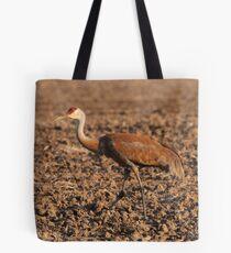 Sandhill Crane in Field Tote Bag