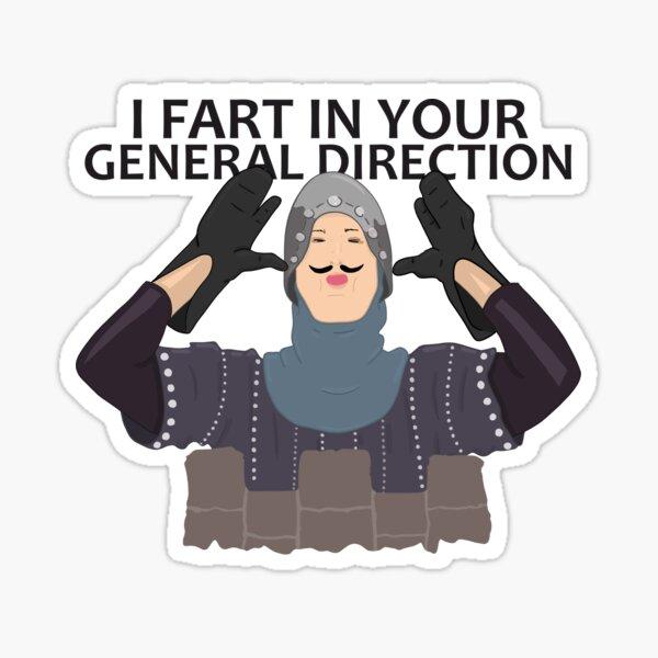 Monty Python French Knight Fart Sticker