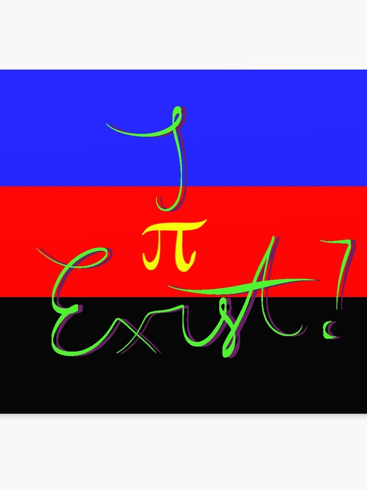 I Exist - Polyamory Flag   Canvas Print