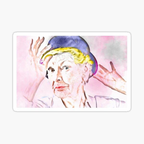 Elaine Stritch [Mischtechnik] Sticker