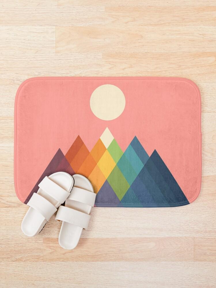 Alternate view of Rainbow Peak Bath Mat