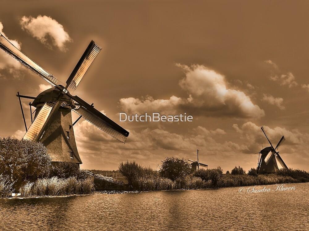 Windmills in sepia by DutchBeastie