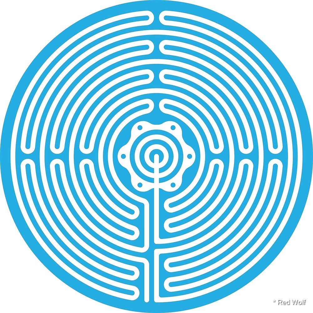 Geometric Pattern: Labyrinth: Blue Light by * Red Wolf