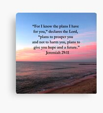 BREATHTAKING JEREMIAH 29:11 PHOTO Canvas Print