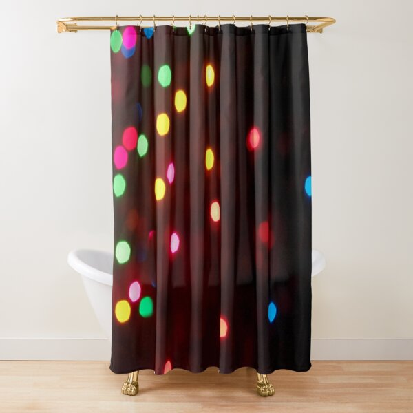 Christmas Lights Glowing Shower Curtain