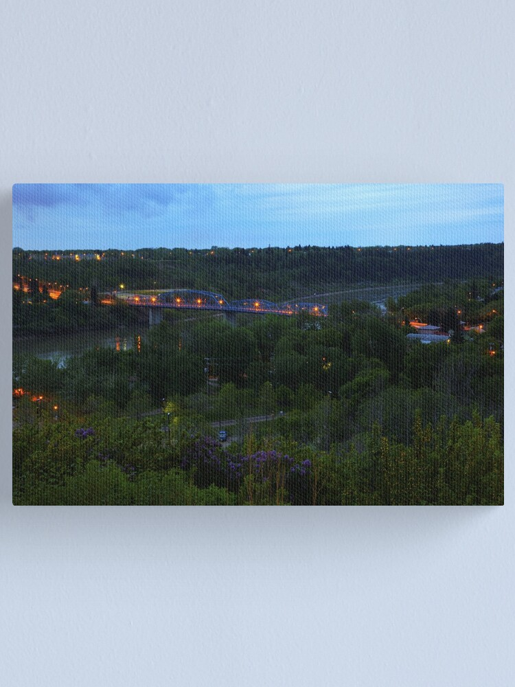 Alternate view of Twilight River Valley Canvas Print