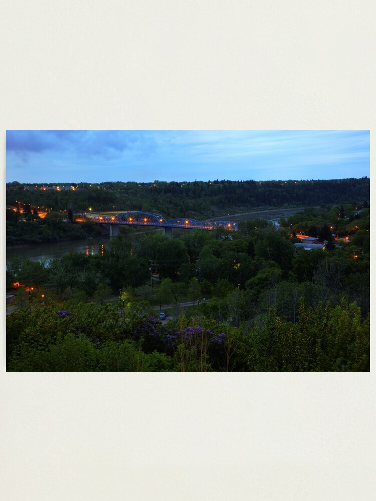 Alternate view of Twilight River Valley Photographic Print