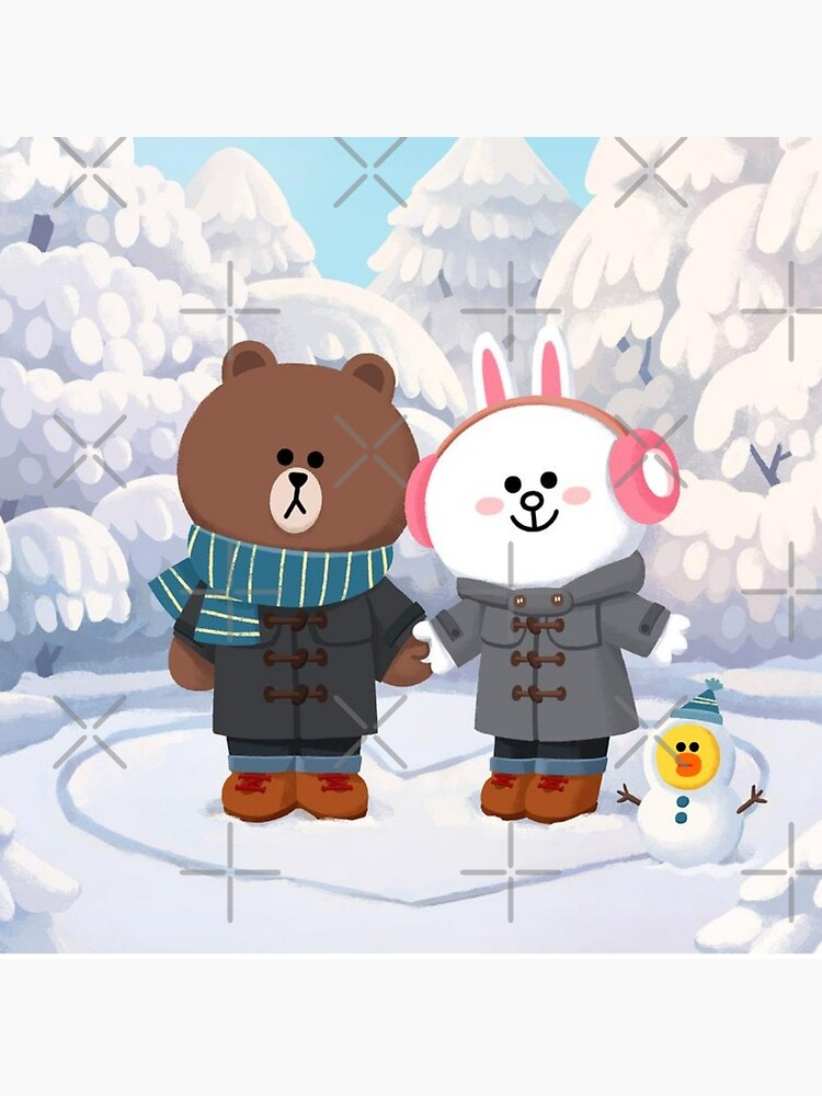 Brown bear and cony bunny rabbit winter love by tommytbird