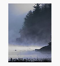 Cabin in the Mist, Kennebec Lake, Ontario Photographic Print
