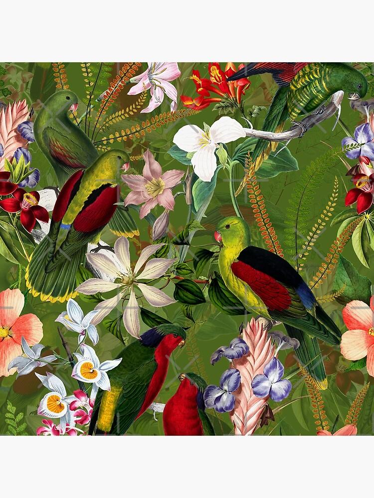 Vintage Parrot Jungle 3 by UtArt