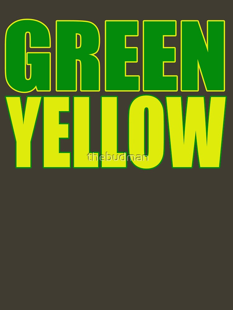 GREEN & YELLOW by thebudman