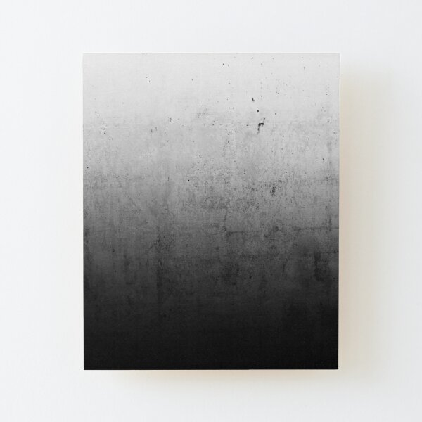 Black Ombre on Concrete Texture Wood Mounted Print