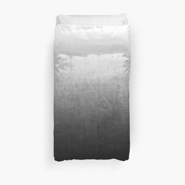 Black Ombre on Concrete Texture Duvet Cover