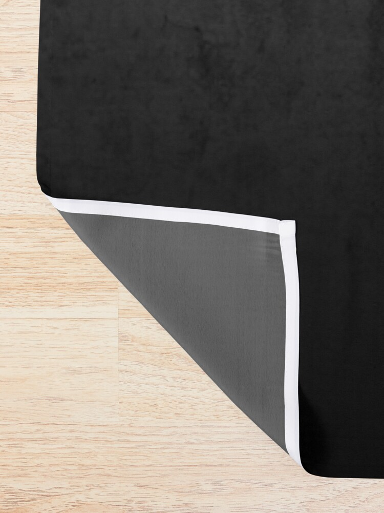 Alternate view of Black Ombre on Concrete Texture Shower Curtain